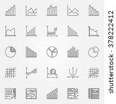 statistics icons set   vector... | Shutterstock .eps vector #378222412