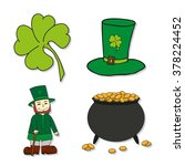 st. patrick's day icons  ... | Shutterstock .eps vector #378224452