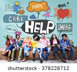 give help donate charity donate ... | Shutterstock . vector #378228712
