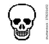 human skull pixel art vector | Shutterstock .eps vector #378231652