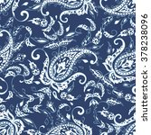 paisley pattern. seamless asian ... | Shutterstock .eps vector #378238096