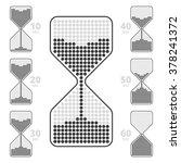 sandglass indicator. flat chart ... | Shutterstock .eps vector #378241372