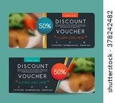 discount voucher template with... | Shutterstock .eps vector #378242482