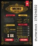 brochure or poster restaurant ... | Shutterstock .eps vector #378246832