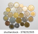 collection of coins from... | Shutterstock . vector #378252505