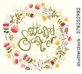 happy easter typography.... | Shutterstock .eps vector #378252982