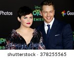 Small photo of Ginnifer Goodwin and Josh Dallas at the Los Angeles premiere of 'Zootopia' held at the El Capitan Theater in Hollywood, USA on February 17, 2016.