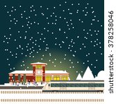 suburban train station | Shutterstock .eps vector #378258046