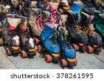 roller skates  retro style | Shutterstock . vector #378261595