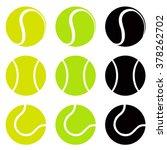 Tennis Balls  Silhouette Vecto...