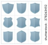 collection of shield icon... | Shutterstock .eps vector #378263452