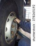 auto mechanic working at auto...   Shutterstock . vector #378265192