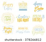 easter wishes overlays ... | Shutterstock .eps vector #378266812
