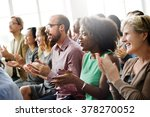 audience applaud clapping... | Shutterstock . vector #378270052