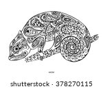 zentangle stylized chameleon... | Shutterstock .eps vector #378270115