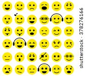set of emoticons. smiley icons. ...
