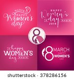 happy women's day design... | Shutterstock .eps vector #378286156
