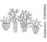 beautiful monochrome flowers in ... | Shutterstock .eps vector #378290902