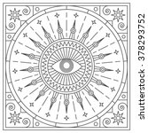 mandala. abstraction. linear... | Shutterstock .eps vector #378293752