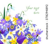 Vector Spring Card With Flowers