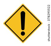 hazard warning  | Shutterstock .eps vector #378295522