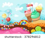 sweet world illustration | Shutterstock .eps vector #378296812