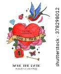 save the date. wedding... | Shutterstock . vector #378298012