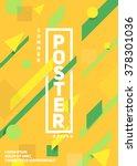 material dynamic design poster. ... | Shutterstock .eps vector #378301036