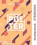 material dynamic design poster. ... | Shutterstock .eps vector #378301042