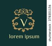 v letter vector logo template ... | Shutterstock .eps vector #378301156