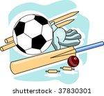 illustration of play... | Shutterstock .eps vector #37830301
