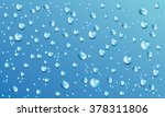 vector water drops on blue...
