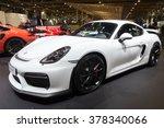Постер, плакат: Porsche Cayman GT4 on
