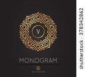 royal modern monogram  logo... | Shutterstock .eps vector #378342862