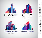vector set of city scape logos  ... | Shutterstock .eps vector #378343642