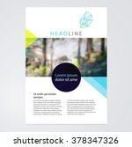 Brochure, leaflet, flyer, poster template. stock-vector abstract background. EPS 10 | Shutterstock vector #378347326