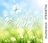 natural easter background with... | Shutterstock . vector #378348766