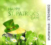 sunny patrick's day background...   Shutterstock . vector #378348832