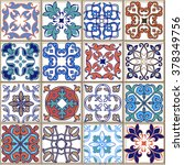 collection seamless patchwork... | Shutterstock . vector #378349756