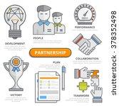 partnership design concept ...   Shutterstock .eps vector #378352498