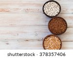 white beans  lentils and peas... | Shutterstock . vector #378357406