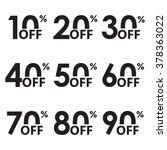 sale icon set. discount price... | Shutterstock .eps vector #378363022