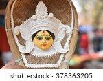 goddess durga portrait   durga... | Shutterstock . vector #378363205