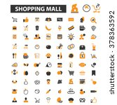 shopping mall icons | Shutterstock .eps vector #378363592