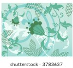 pretty vines with quirky flower ... | Shutterstock .eps vector #3783637