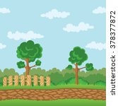seamless horizontal landscape.... | Shutterstock .eps vector #378377872