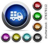 set of round glossy transport...