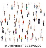 standing together many... | Shutterstock . vector #378390202