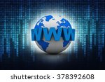 word www is wrapped in front of ... | Shutterstock . vector #378392608