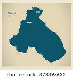 modern map   nord cm | Shutterstock .eps vector #378398632